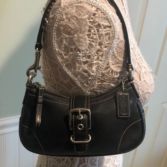 Coach Handbags - Coach Black Leather Mini Shoulder Bag- Like New